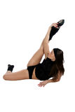 Sportive girl. Doing physical exersices Stock Image