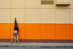 girl posing upside down stock image image of portrait