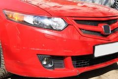 Sportive honda accord red racing Royalty Free Stock Photography