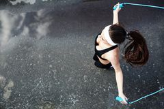 Sportive jumping Stock Photos