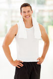 Sportive man gym Stock Photo