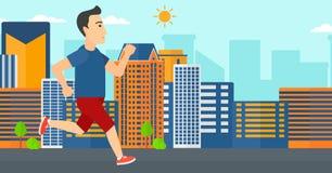 Sportive man jogging. Royalty Free Stock Photo
