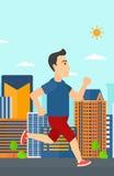 Sportive man jogging. Royalty Free Stock Image