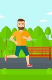 Sportive man jogging. Royalty Free Stock Photography