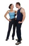 Sportive Paare Stockbilder