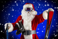 Sportive santa Royalty Free Stock Photos