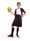 Sportive schoolgirl Royalty Free Stock Photography