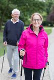 Sportive senior man and woman Royalty Free Stock Photography