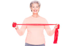 Sportive senior woman Royalty Free Stock Photography