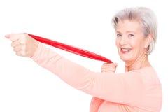 Sportive senior woman Royalty Free Stock Photo