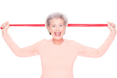 Sportive senior woman Stock Photography