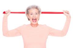 Sportive senior woman Stock Photos