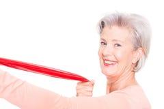 Sportive senior woman Stock Photo