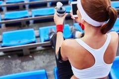 Sportive woman Stock Image