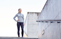 Sportive woman at city Royalty Free Stock Photos