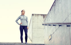 Sportive woman at city Royalty Free Stock Photography