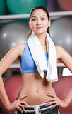 Sportive woman in fitness gym Stock Photo