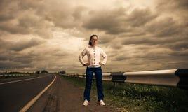 Sportive woman outside Stock Photography