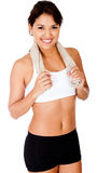 Sportive woman smiling Royalty Free Stock Photography