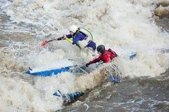 Sportivi dell'acqua nella soglia Fotografia Stock Libera da Diritti