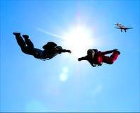 Sportivi-parashutist Immagine Stock