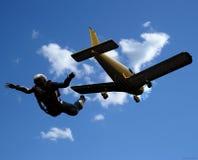 Sportivi-parashutist Fotografie Stock Libere da Diritti