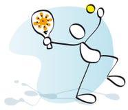 Sportivo che gioca tennis Fotografia Stock