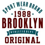 Sportklädermärke Arkivbild