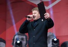 Sportkommentator Dmitry Guberniev Royaltyfri Fotografi