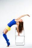 Sportkonditionflicka Royaltyfri Foto
