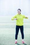 Sportkonditionkvinna, idrotts- öva för flicka Arkivfoto