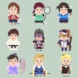 Sportkvinnasamling vektor illustrationer