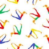 Sportkvinnor Bilder för vektorfärgmodell vektor illustrationer