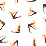 Sportkvinnor Bilder för vektorfärgmodell stock illustrationer