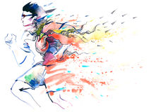 Sportlaufen Lizenzfreies Stockfoto