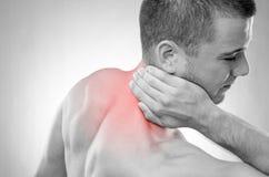 Sportler in den Schmerz Stockbild