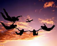 Sportler-parashutist Stockbild