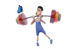 Sportler und Basisrecheneinheit Lizenzfreies Stockbild