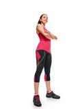 Sportliche aerobe Frau der Eignung Stockbilder