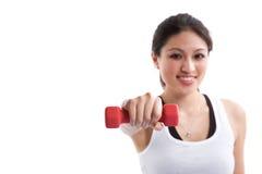 Sportliche asiatische Frau Stockfoto