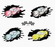 Sportliche Autos der verschiedenen Farben Lizenzfreie Stockfotos