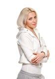 Sportliche blonde hübsche Frau Lizenzfreies Stockbild