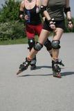 Sportliche Fahrwerkbeine Stockfoto