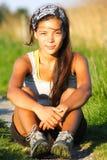 Sportliche Frau Stockfotografie