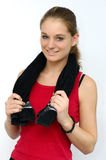 Sportliche junge Frau lizenzfreie stockfotos