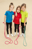 Sportliche kleine Mädchen Lizenzfreies Stockfoto