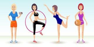 Sportliche Mädchen Vektor Abbildung