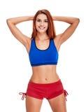 Sportliche Schönheitsfrau lizenzfreies stockbild