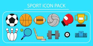 Sportlicher Ikonensatz lizenzfreies stockfoto