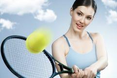 Sportliches Mädchen lizenzfreie stockbilder